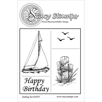 Stacy Stamps Cling Mounted Stamps Sailing Set