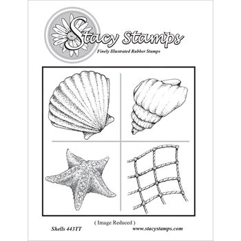 Stacy Stamps Cling Mounted Stamps Shells