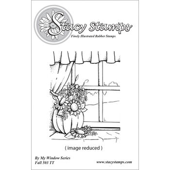 Stacystamps By My Window Series Cling Mounted Stamps Fall