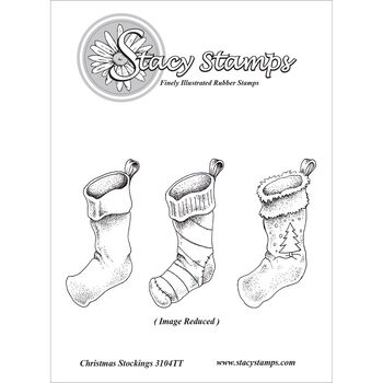 Stacy Stamps Cling Mounted Stamps Christmas Stockings