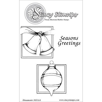 Stacy Stamps Cling Mounted Stamps Ornaments