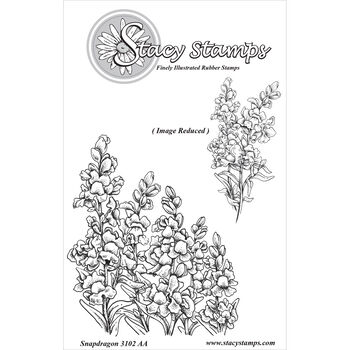 Stacy Stamps Cling Mounted Stamps Snapdragons