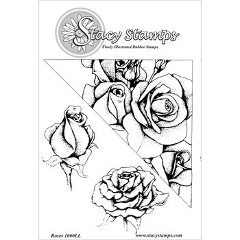 Stacy Stamps Cling Mounted Stamps Roses