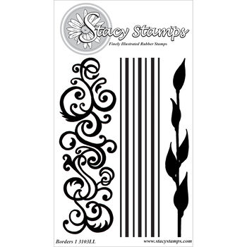 Stacy Stamps Cling Mounted Stamps Borders I