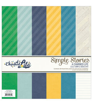 """A Charmed Life Simple Basics paper Kit 12""""X12"""" 6/Sheets-"""