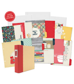 """Sn@p! Double-Sided Recipe Pages 6""""X8"""" 12/Pkg-Homespun"""