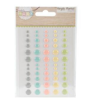 Hello Baby Enamel Dots Embellishments 60/Pkg