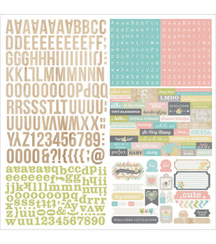 """Hello Baby Cardstock Stickers 12""""X12""""-Expressions"""