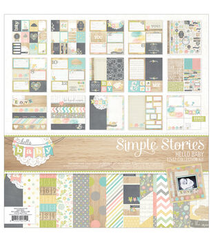 """Simple Stories Collection Kit 12""""X12""""-Hello Baby"""