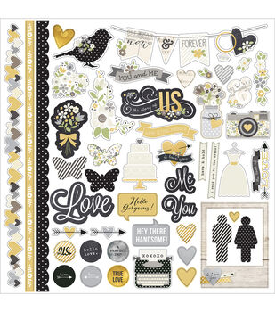 """The Story Of Us Cardstock Stickers 12""""X12""""-Fundamentals"""
