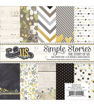 """Simple Stories Paper Pad 6""""X6"""" 24/Pkg-The Story Of Us"""
