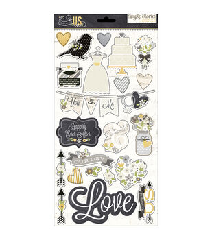 """The Story Of Us Chipboard Stickers 6""""X12"""""""