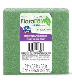 Styrofoam 3-15/16''x3-15/16''x1-15/16'' Block Arranger-1PK/Green