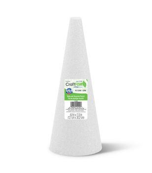 Floracraft Styrofoam Cone White