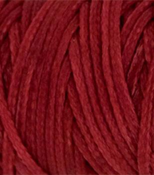 Waxed Braided Cord 25 Yard Spool-Red