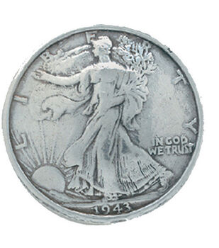 Liberty Half Dollar Concho 1-3/16'' Screwback-Silver Finish