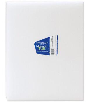 Styrofoam 15''x12''x1-1/4'' Block-1PK/White
