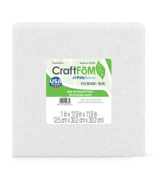 Styrofoam White Block 12'' X 12'' X 1''