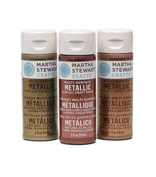 Martha Stewart Metallic Acrylic Craft Paint 2 Ounces