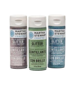 Martha Stewart 2oz Multi-Surface Glitter Acrylic Craft Paint