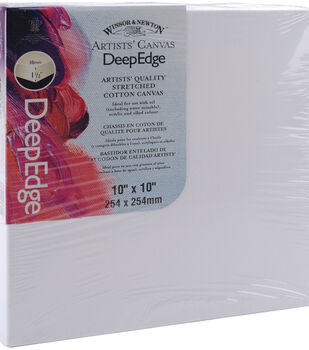 "Winsor & Newton Deep Edge Stretched Canvas 10""x10""-10""x10"""