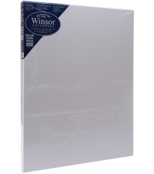 "Winsor & Newton Universal Stretched Canvas Twin Pack 18'x24""-18""x24"""
