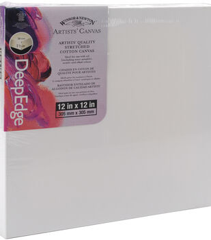 "Winsor & Newton Deep Edge Stretched Canvas 12""x12""-12""x12"""