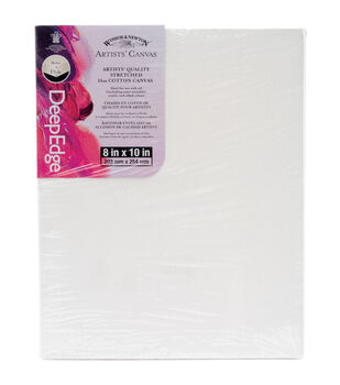 "Winsor & Newton Quality Deep Edge Stretched Canvas-8""X10"""