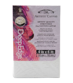 "Winsor & Newton Quality Deep Edge Stretched Canvas-4""X6"""
