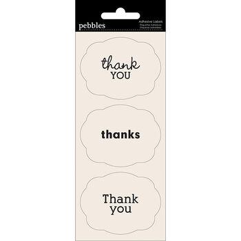 Pebbles Basics Self-Adhesive Sentiment Labels Thank You