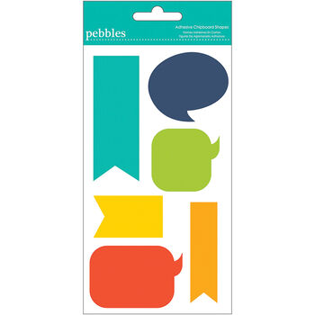 Pebbles Love You More Boy Shapes Chipboard
