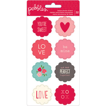 Pebbles Inc. Yours Truly Cardstock Stickers Repeat Scallop