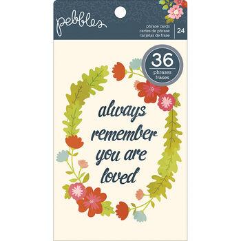 Pebbles Front Porch Phrase Cards Sentiment Quotes