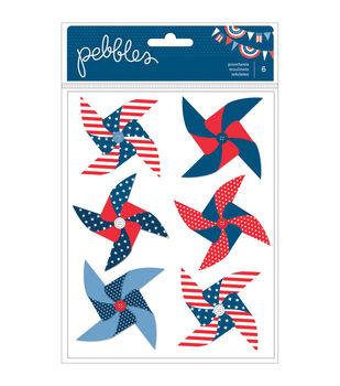 Pebbles Americana Dimensional Pinwheels