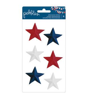 Pebbles Americana Dimensional Stickers Stars