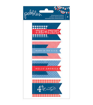 Pebbles Americana Dimensional Stickers Banners