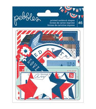 Pebbles Americana Cardstock Die-Cuts Shapes