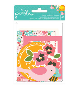 Garden Party Cardstock Die-Cuts 44/Pkg-Shapes, Tags, Frames, File, Journaling