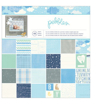 """Special Delivery Boy paper Pad 12""""X12"""" 48/Sheets-24 Designs"""