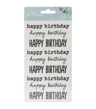 """Birthday Wishes Rub-Ons 8""""X4.25""""-Happy Birthday/Black"""