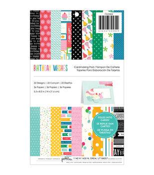 "Birthday Wishes Cardmaking Pad 5.5""x8.5"" 36/pkg-22 Designs"