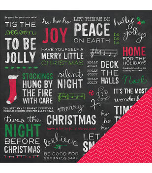 """Home For Christmas Double-Sided Cardstock 12""""X12""""-Home For Christmas"""