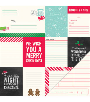 """Home For Christmas Double-Sided Cardstock 12""""X12""""-Merry and Bright"""