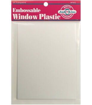 Judkins 4-1/4''x5-1/2'' Embossable Window Plastic Sheets-20Pk/Clear