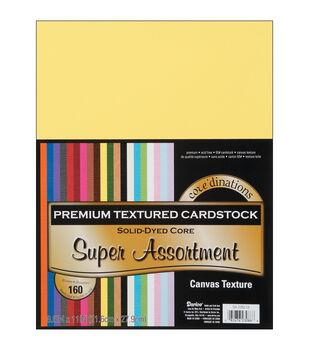 """Cardstock 8.5""""X11"""" 160/Pkg-Super Assort-Textured"""