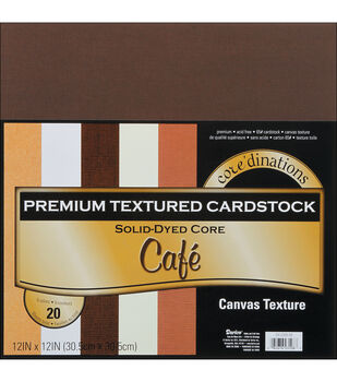 """Core'dinations Value Pack Cardstock 12""""X12"""" 20/Pkg-Cafe-Textured"""