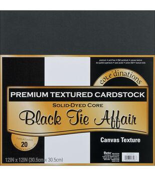 "Core'dinations Value Pack Cardstock 12""X12"" 20/Pkg-Black Tie Affair-Textured"