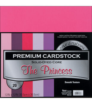 """Core'dinations Value Pack Cardstock 12""""X12"""" 20/Pkg-The Princess-Smooth"""