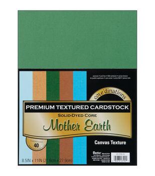 "Cardstock 8.5""X11"" 40/Pkg-Mother Earth-Textured"