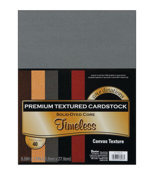 "Cardstock 8.5""X11"" 40/Pkg-Timeless-Textured"